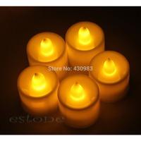 alex  12 New Flickering Flicker Light Flameless LED Tealight Tea Candles Wedding Light