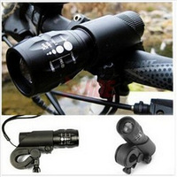 On sale#FREE SHIPPING New Cycling Bike Bicycle LED Flashlight Front Head Light with mount