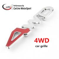 Metal Chrome 4WD  Car Grille Emblem Badge VW Tuning 3D Emblem Sticker Fit For All Car MIX car emblem