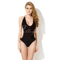 2014 Hot Black One-piece Swimwear best Quality Swimsuit with Fringe and Side Cut-outs Wholesale Free Shipping