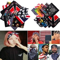 Free Shipping Hip Hop Dance Fashion Women and Men Cotton Paisley head wrap Bandanas Double Sided Head Wrap Scarf Wristband