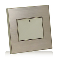 LED light point a billing control switch statue luxury champagne gold brushed stainless steel panel