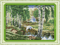 The Wild Geese in the Forest Counted Cross Stitch DMC Cross Stitch DIY Dimension Cross Stitch Kits for Embroidery Needlework