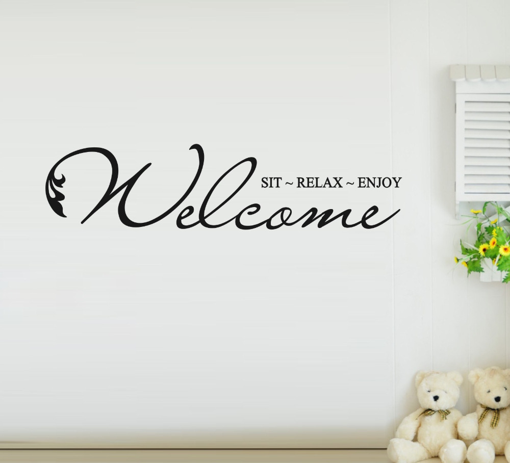 Wall Art Quotes For Pubs : Wall sticker quotes free shipping welcome to our home