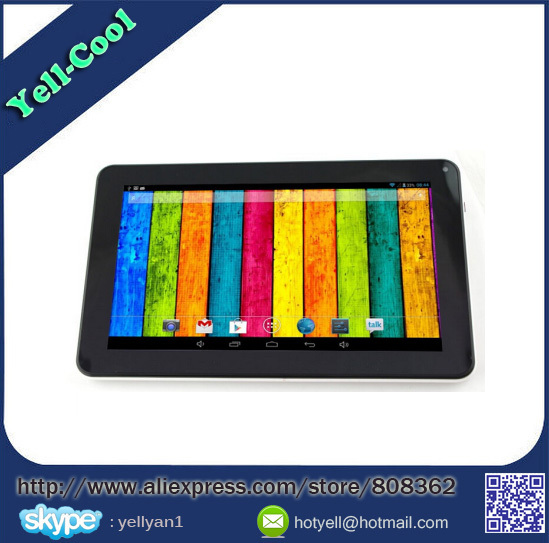 9 inch Allwinner A33 Tablet PC Quad Core 1.5Ghz CPU 8GB ROM Android 4.4 Bluetooth Dual Camera WiFi Google Play Skype(China (Mainland))