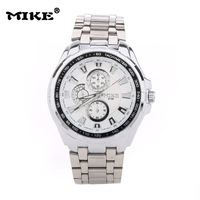New Design Product Officially MIKE Brand Leisure Business All Steel Men's Style Of High-Grade Quartz Watch Free Shipping