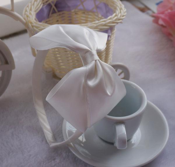 little toddler girls white ribbon hairbands hair accessor hairbows 10 pcs/lot free shipping(China (Mainland))