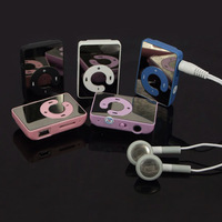 Mirror Screen C Button MP3 Player MINI Clip MP3 Player sport music mp3 With Micro TF Card Slot With Headset Safe Delivery