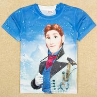 NOVA kids Frozen boy short sleeve T-shirt Hans T shirt boys clothes C5195Y#