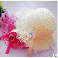 2014 Children's hat Lace lace hat Beach cap tourism hat Children's sun hat