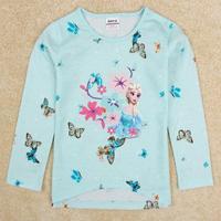 NOVA Kids Frozen long sleeve Tshirt Princess Elsa t shirt of the girls F5272#