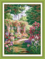 Romantic Backyard Garden (2) Counted Cross Stitch DMC Cross Stitch DIY Dimension Cross Stitch Kits for Embroidery Needlework