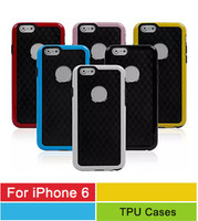 Stereo Veins Line Grain Carbon Fiber TPU Back  3D Wall Case Cover For Apple iPhone 6 Air 6 Colors Fast Free Shipping 10pcs/lot
