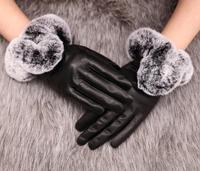 Ms. genuine sheepskin wool gloves Rex increase female lovely warm thick velvet women's   glove  mittens