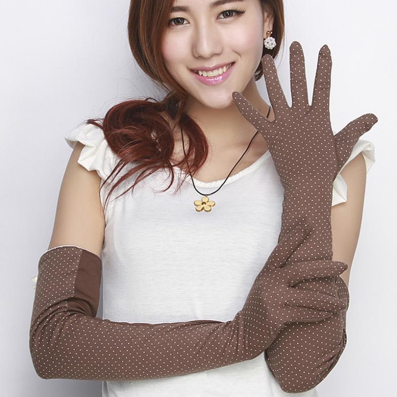 New Arrival 2014 Cotton gloves summer lengthened 60cm slip female long-sleeved arm UV protection Sunscreen Ultra gloves(China (Mainland))