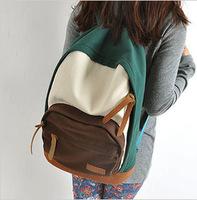2014 New Men Women Cartoon Cute Casual Shoulder Bag Backpack Schoolbag Men Canvas Backpacks Travel Hiking Bags Free Shipping