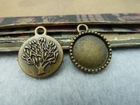 20pcs 17x20-14mm Antique Bronze The Base Charm Pendant c6423