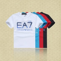 Retail  Brand  2014  New  summer  fashion  children's   T-shirt  cotton  shirt   letter  pattern  boy's  shirt  free  shipping