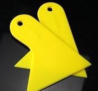 10pcs Yellow Plastic Small scraper car film tools wiper plate glass car sticker tools film scraper Free Shipping