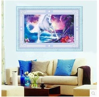 5d diamond circle is leading the business needs new sitting room diamonds embroidered paste drill drawing horse 77*51cm