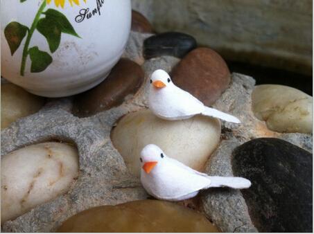 Free Shipping 10pcs/lot 3*1.5cm Foam Artificial Animal Cute Mini Bird Home Decoration DIY Handmade Material(China (Mainland))