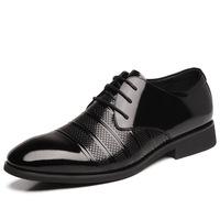 Hot Sale Men's Business Shoes,Fashion Plaid Printing PU Leather Shoes,Men's  Lace Up Flats Shoes,Casual Shoes,Size 38-44,XMP101