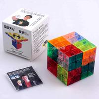 New YJ MoYu Aosu Transparent Stickerless 4x4 Magic Cube 4x4x4 Speed Magic Cube Ao Su 6.2cm Educational Toys Children Gift Toys