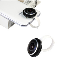 New Universal Super Fisheye Circle Clip Fish eye Camera Lens 235 Degree for iPone/Samsung/HTC/LG
