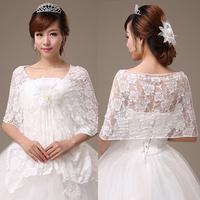 Womens Wedding Dress Lace Flower Shrug Bolero Coat Bridal Shawl/Wraps/Jackets For Free Shipping