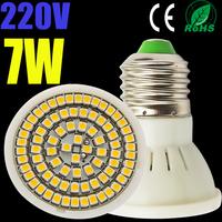 100X High quality led lamps 5W 7W led dowmlight 5050led/2835led AC 220v 240v led spot light cool white warm white led spotlight