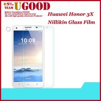 Nillikin Premium Tempered Glass Screen Protector Protective Film For Huawei Honor 3X screen protector film With Retail Package