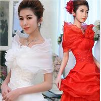 Wedding Dress Bridesmaid Flower Shrug Bolero Coat Bridal Shawl/Wraps/Jackets For Free Shipping