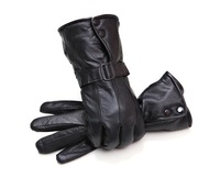 2014 male and female pu sheep fur gloves, leather gloves in winter winter male motorcycle thickened gloves free drop shipping