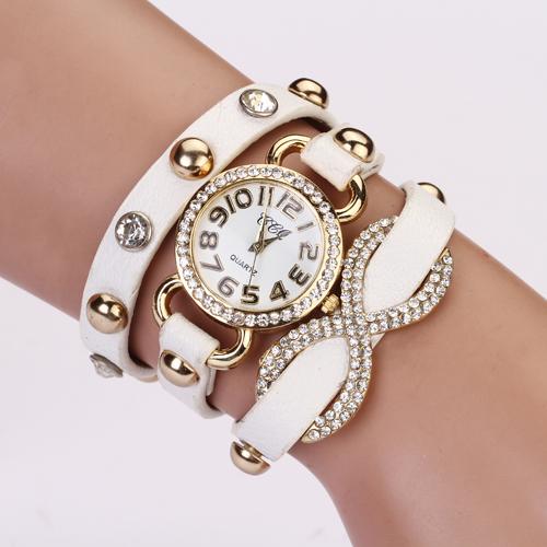 2015 New Arrial PU Leather Strap Women Watches Fashion Cross Love Bowknot Pattern women Dress Watch drill wristwatch XR475(China (Mainland))