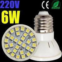 10pcs led bulb lamp High brightness E27/E26 4w 5w 6W 7W 2835SMD/5050SMD Cold white/warm white AC220V 230V 240V Free shipping