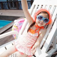 Children swimwear/l/lovely girl cuhk children's lace bathing suit/baby/hot spring bathing suit