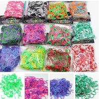 Free shiping hot sale Rubber loom Bands DIY Bracelets rubber Bracele(3000pcs bands+120pcs s/c clip+10hooks) 10Packs /Lot
