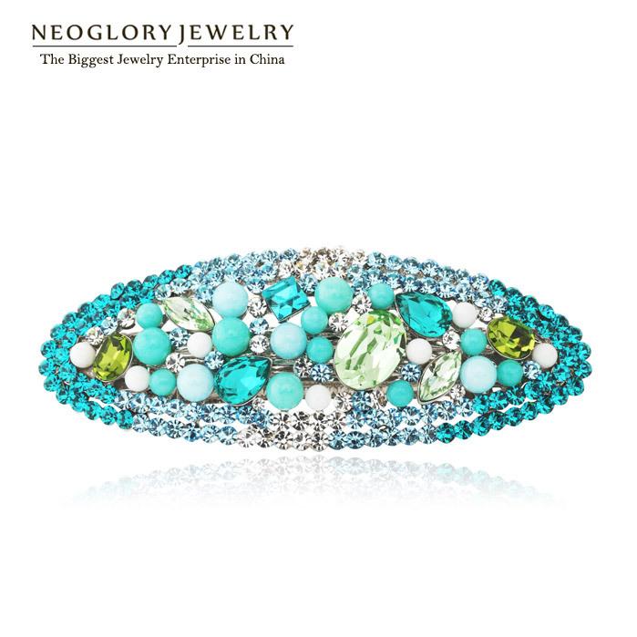 Neoglory Rhinestone Hairwear Jewelry for Women Platinum Plated Crystal Accessories 2014 Charm New(China (Mainland))