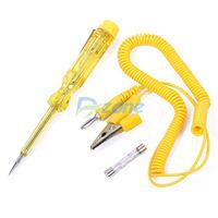 Auto Circuit Tester 6V-24V Voltage Gauge Car Test VoltMeter Light Bulb Yellow#58965