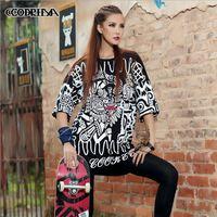 CQ-31 fashion women clothes 2014 half sleeve Loose street dance wear Printed street style women harajuku shirt Hip hop t shirt