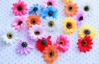 200 pcs Artificial Flowers Decor Sun Flowers Silk Decorative Flowers Wreaths Wedding Party Decor Festive Supplies Free Shipping