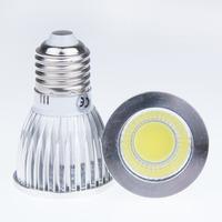 500pcs E27 6W 9W 12W COB Dimmable LED Sport light lamp High Power bulb warm white cool white 60 degrees AC85-265V