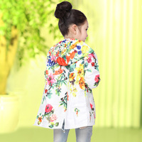 Children's clothing large female child outerwear spring and autumn child trench outerwear baby thin top 2014
