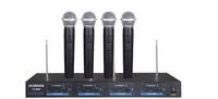 Four headset handheld wireless microphone VHF Wireless Handheld Microphone incloud the receiver ok003