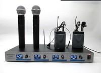 VHF Wireless Handheld Microphone incloud the receiver Four headset handheld wireless microphone ok004