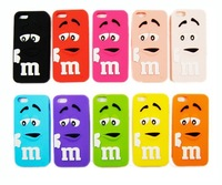2014  Fashionable M&M's Mobile Phone Shell Lovely Cartoon Cell Phone Cover Silicon Case for IPhone 4 4G 4S iPhone4