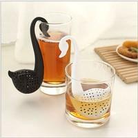 drop shipping swan loose tea leave strainer tea filter infuser tools