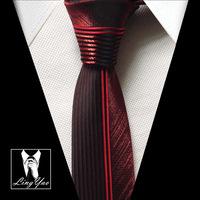 TOP fashion skinny tie NEW designer red patchwork necktie high quality woven gravata