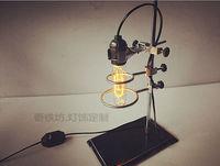HOT Luxury Antique Vintage Desk Tble Lamp Light Incandescent Bulb Manual DIY Handmade For RH Loft Cafe Bar Study E27 Laboratory