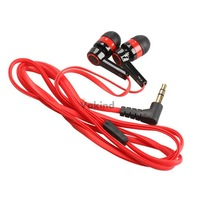 V1NF 3.5mm In-Ear Earphone Candy Color Symmetric Headphone Compact Flat Cable